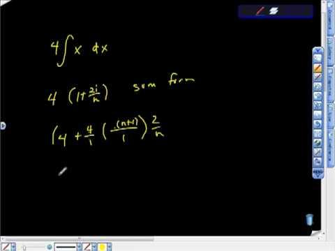 AP Calculus AB Riemann Sums Pt III