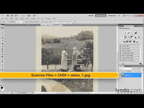 How to digitally remove ink from photographs | lynda.com tutorial