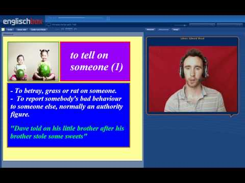 English Vocabulary | Phrasal Verbs | Tell