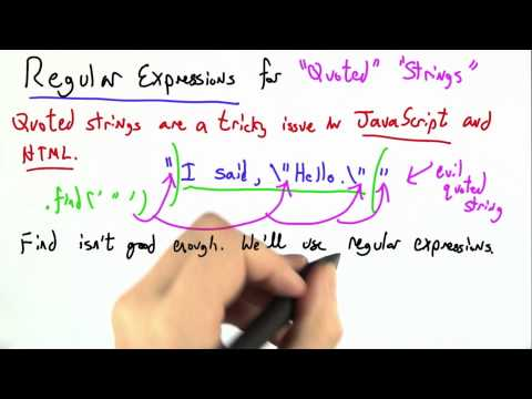 Quoted Strings - CS262 Unit 1 - Udacity