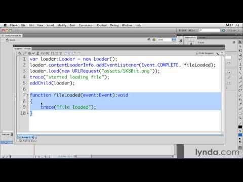 Understanding how ActionScript is processed in Flash | lynda.com tutorial