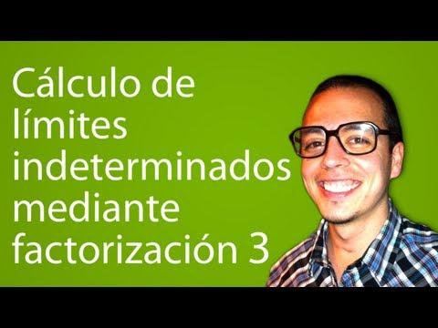 Cálculo de límites indeterminados mediante factorización 3