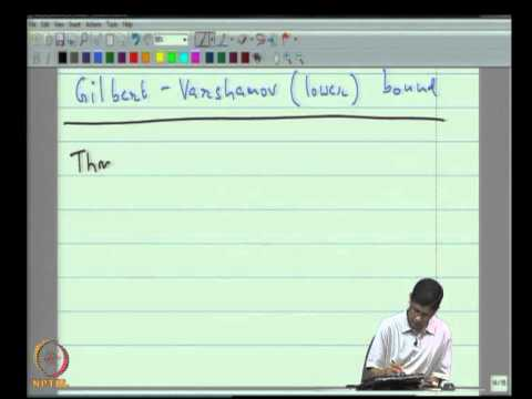 Mod-05 Lec-12 Bounds on the size of a Code