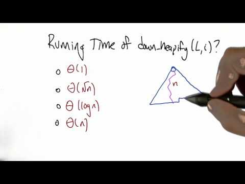 Running Time of down heapify Solution - Algorithms - Statistics - Udacity