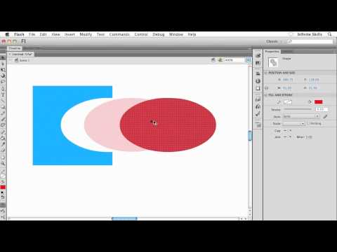 Adobe Flash CS6 Tutorial | Understanding the Merge Drawing Mode