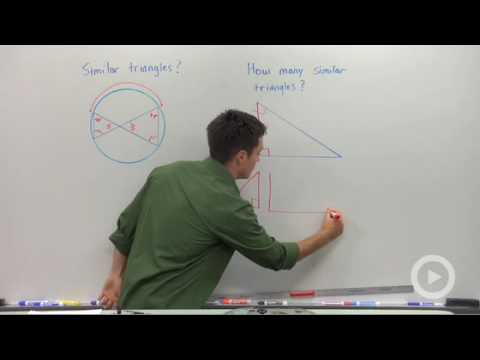 Similar Triangles in Circles and Right Triangles
