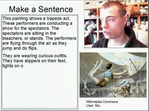 Learn English Make a Sentence and Pronunciation Lesson 110: Trapeze