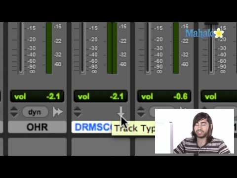 Track Type Mix Window - Pro Tools 9