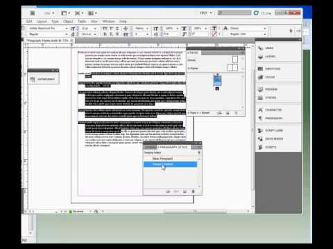 InDesign Tutorial : How to Use Paragraph Styles in Adobe InDesign CS5