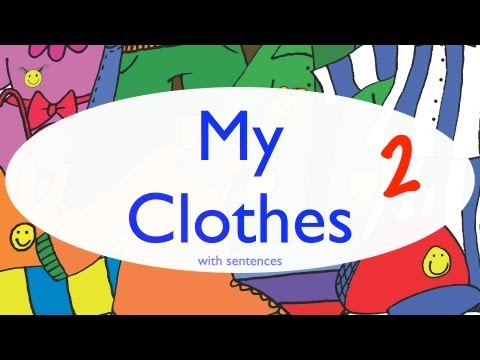 Clothes Vocabulary 2 - Sentences by ELF Learning