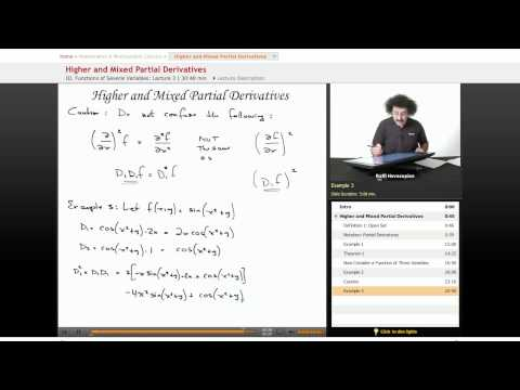 Multivariable Calculus: Higher and Mixed Partial Derivatives