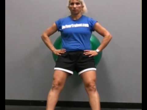 Squats, Wall, Resistance Ball : BeYourTrainer.com