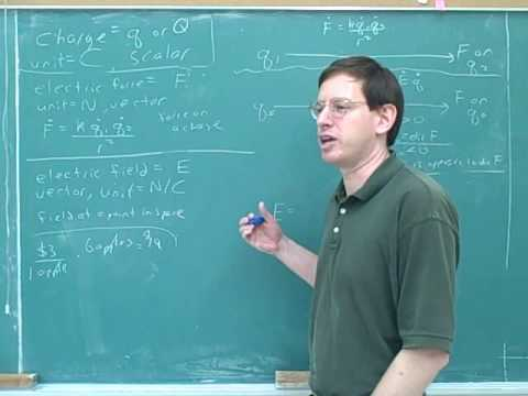 Physics: Electric field and electric force (10)