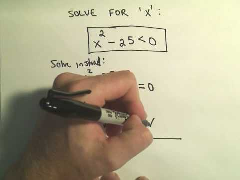 Solving Quadratic Inequalities - Example 2