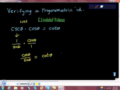 Verifying a Trigonometric Identity ESTABLISH