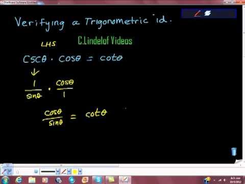 Verifying a Trigonometric Identity ESTABLISH