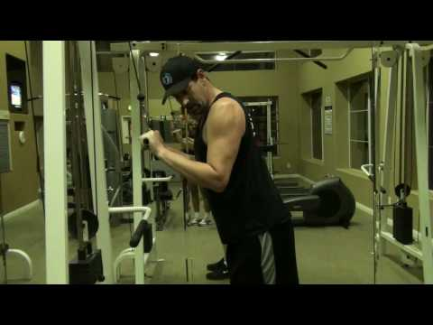 Triceps Extension w Straight Bar (Cable)