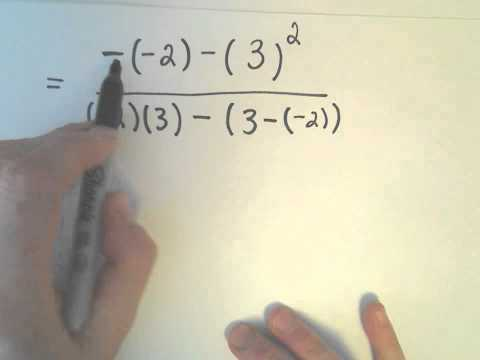 The Order of Operations, Example 3