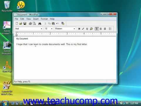Windows Tutorial Formatting Text Microsoft Training Lesson 4.3