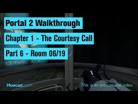 Portal 2 Walkthrough / Chapter 1 - Part 6: Room 06/19