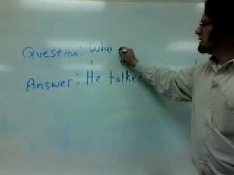 Using who to make questions