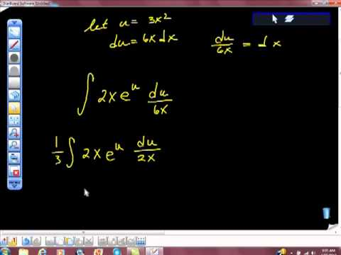 AP Calculus AB Integration of e^fx  e^f(x) Using U Substitution
