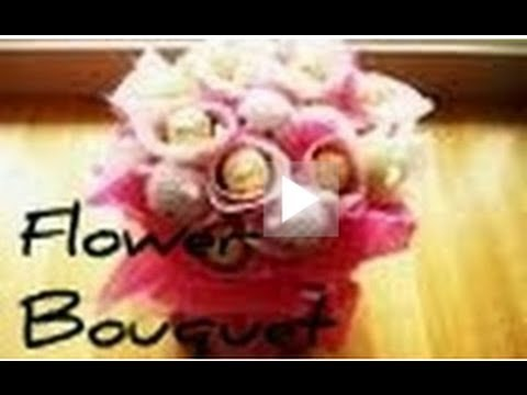 ♥ Chocolate Flower Bouquet Tutorial using Ferrero Rochers ♥ ( • ◡ • )