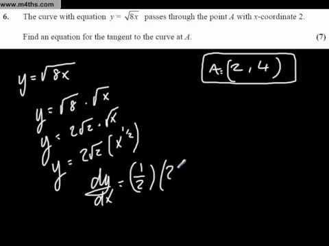 Paper 2 Q6 Core 1 Practice exam Full paper