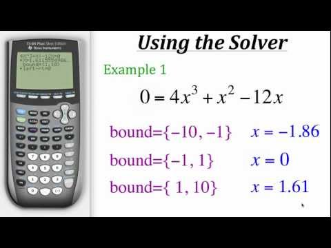 TI Calculator Tutorial: Using the Solver