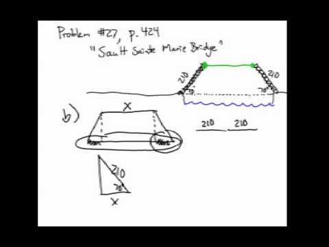 How to Solve Right Triangle Application Problems: SSM Bridge #2