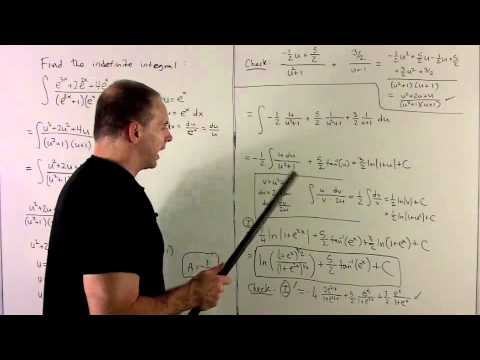 Integration with Partial Fractions 5 - Composition with e^x