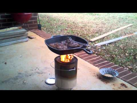 DIY Forced Air Wood Gas Stove Part 3 - The Cooking Test