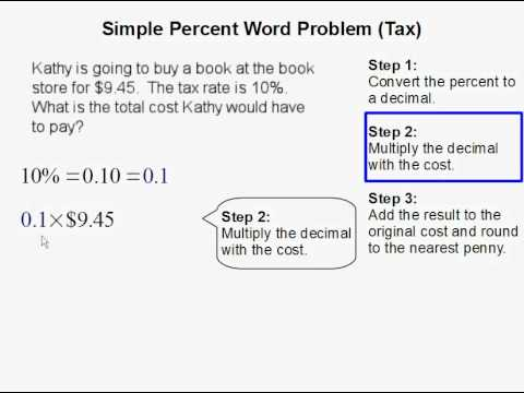 Simple Precent Word Problem Involving Tax
