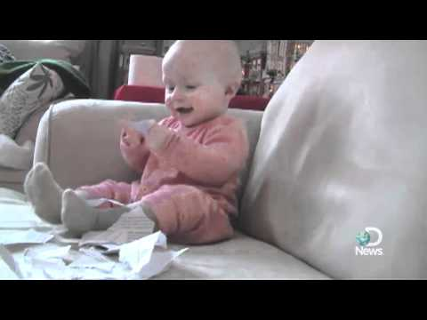 Baby Laughing Hysterically at Ripping Paper Explained