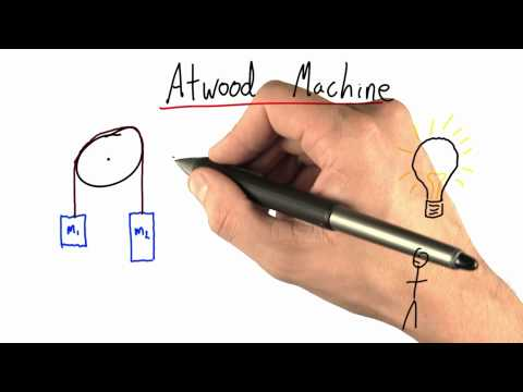 Atwood Machine Problem - Intro to Physics - What causes motion - Udacity