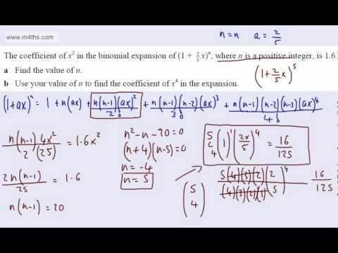(7) C2 Binomial Expansion (finding powers and constants)