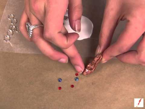 How to Make Glittered Shoe Earrings