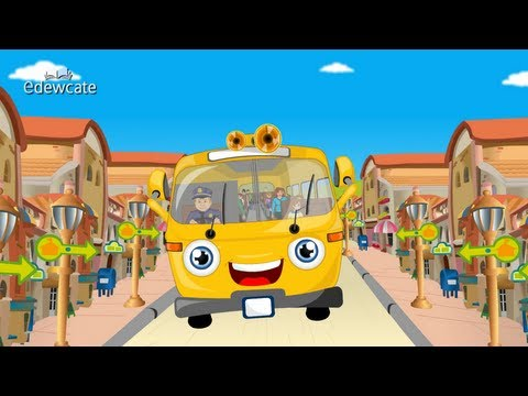 Edewcate english rhymes - Wheels on the bus go round and round nursery rhyme