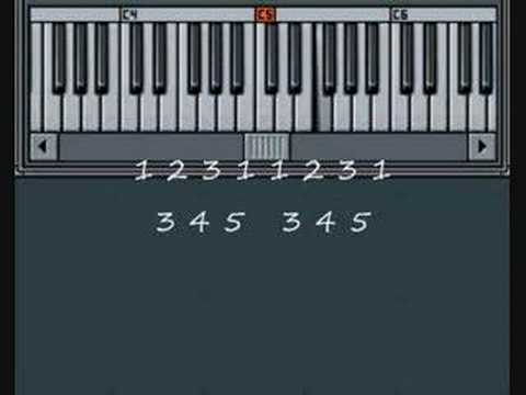 How to play Frere Jacques on Piano - Music By Numbers