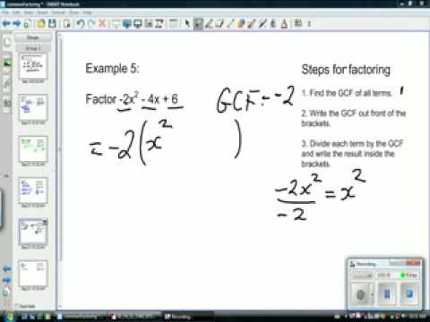Factoring examples 2