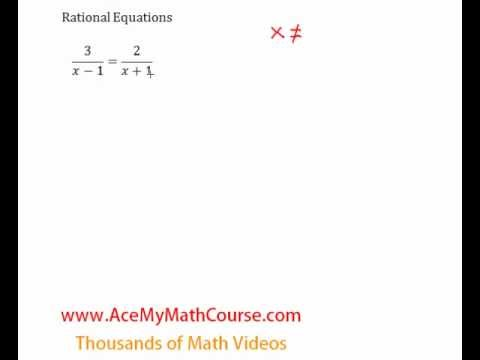 Rational Equations - Introduction