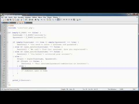 PHP Tutorials: Register & Login (Part 5): User Login (Part 3)