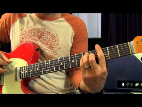 How to Solo on Guitar - Soloing with Chords, soloing with chord shapes, rock blues guitar