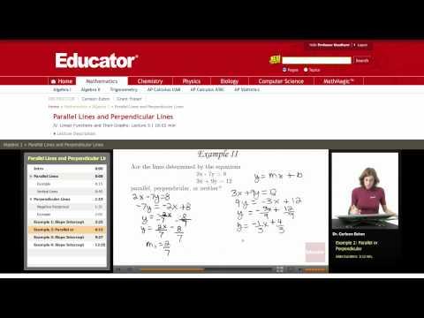 Algebra: Parallel Lines or Perpendicular Lines