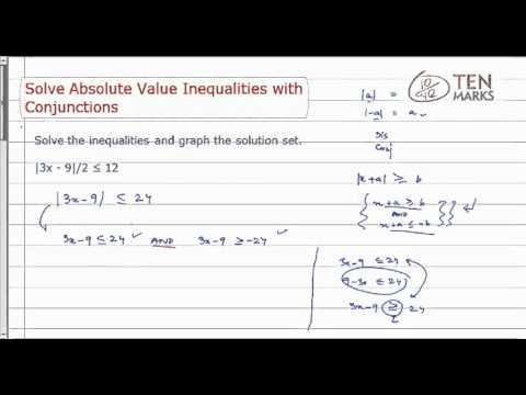 Solve Absolute Value Inequalities with Conjunctions