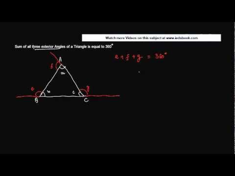 1438. Class IX Maths - Triangles - Sum of all three exterior Angles is 360 - CBSE Maths