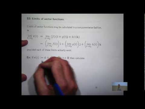 Limits of vector functions: an example