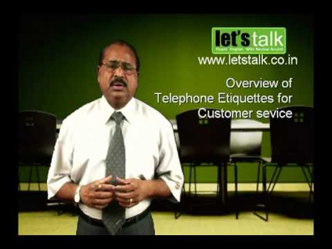 Telephone Etiquettes -Lets Talk English Speaking & personality Development Training