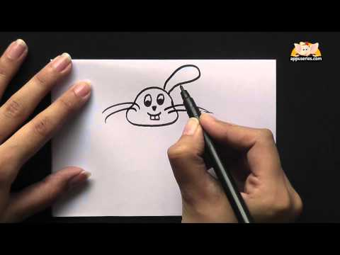 How to draw a Cartoon Rabbit