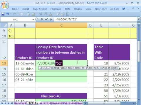Excel Magic Trick 318: MID Text (substring) VLOOKUP Trouble